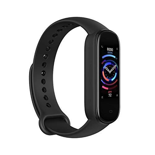 🥇 Amazfit Banda 5 Rastreador de ejercicios con Alexa incorporada Duración de la batería de 15 días Oxigeno en sangre Ritmo cardiaco Monitoreo del sueño Seguimiento de la salud de la mujer Pantalla