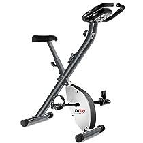 Fitfiu Fitness BEST-200 Bicicletta Statica pieghevole, Grigio Metallizzato