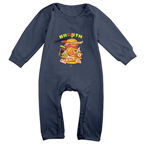 [Raymond Burgertime Long Sleeve Jumpsuit Outfits Navy 6 M] (Forrest Gump Kid Costume)