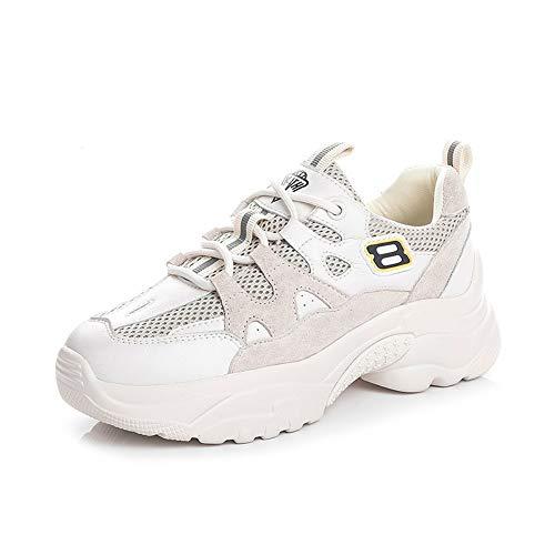 Pequeños Tamaño Blanco Casual Versión Coreana 5 Deportivo De Zhijinli Femeninos Calzado Primavera La 7size Zapatos Marea Salvaje ZXw1IA