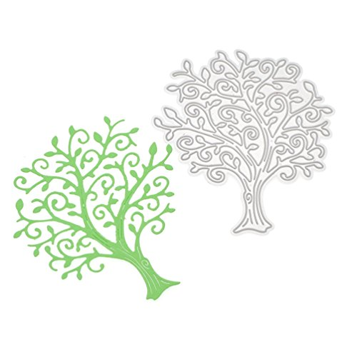 Qlychee Life Tree Metal Stencil Template for DIY Card Making