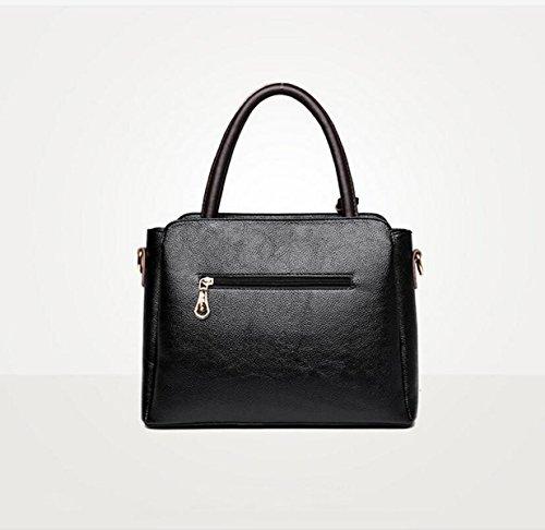 Handtaschen Mode Taschen Tasche Wilden Schulter Tasche Messenger Bag,Black-OneSize GKKXUE
