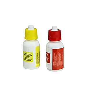 Set of 2 test kit replacement refill bottles for swimming pools garden outdoor for Swimming pool test kits amazon