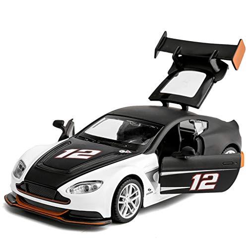 PENGJIE-Model Simulation Alloy Aston Martin GT3 Car Model Children's Toy Car Boy Pull Back Car Model (Color : Black)