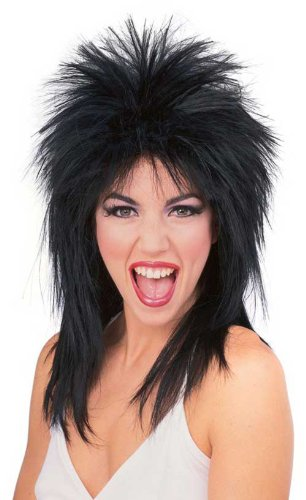 [R50723/69 (Black) Super Star Punk Rock Wig] (Tina Turner Wigs)