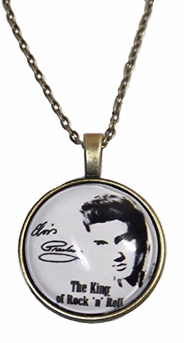 (Elvis Presley Glass Dome Pendant on 20