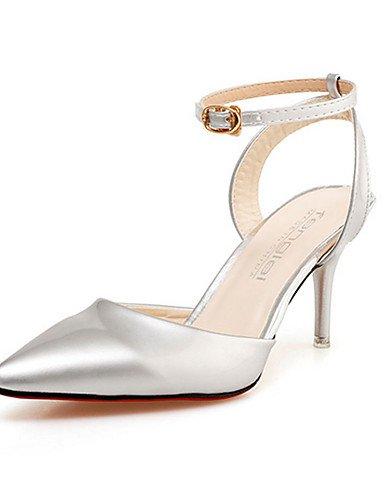 tacones n ZQ mujer Scarpe di ® grigio 5 tacones oro dorato bianco stiletto cn38 5 eu36 eu38 argento rosa pu cn36 us7 us6 casual uk5 rosa tac uk4 ¨ rErY8xwqd