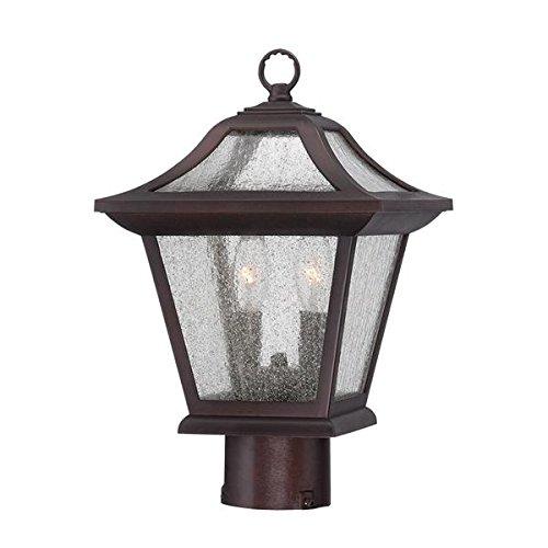 Acclaim 39017ABZ Aiken Collection 2-Light Outdoor Light Fixture Post Lantern, Architectural Bronze by Acclaim