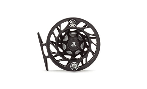 Hatch Gen 2 Finatic 3 Plus Fly Reel, Black/Silver, Large Arbor (Fly Fishing Hatch)