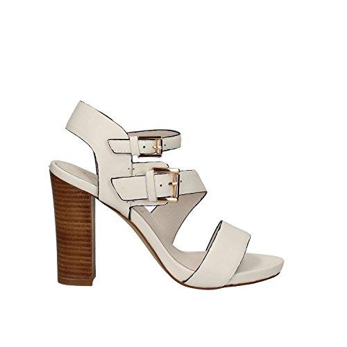 CAFèNOIR CAF Noir LA159 Sandalias de Tacón Zapatos de Mujer Blanca hebillas 203 BIANCO