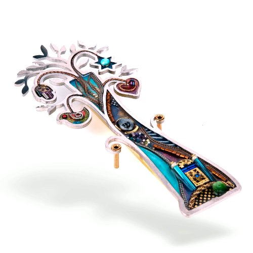 Seeka Tree of Life with Temple Mezuzah Curated and sold by The Artazia Collection - M0954 by The Artazia Collection
