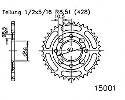 f/ür XL 185 S L185S 1979-1983 Kettenrad 35 Z/ähne Stahl 428er Teilung 1//2x5//16