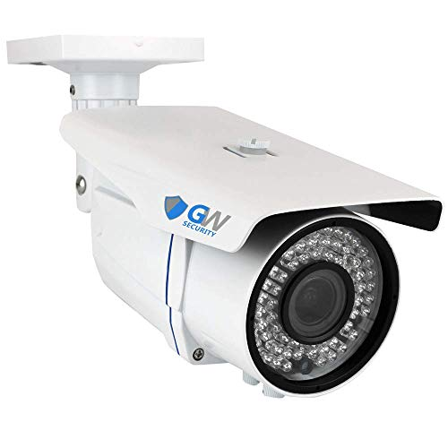 (GW Security 5MP 2592 x 1920 Pixel Super HD 1920P Outdoor Weatherproof PoE H.265 Security Bullet IP Camera with 2.8-12mm Varifocal Zoom Len and 72Pcs IR LED up to 196FT IR Distance)