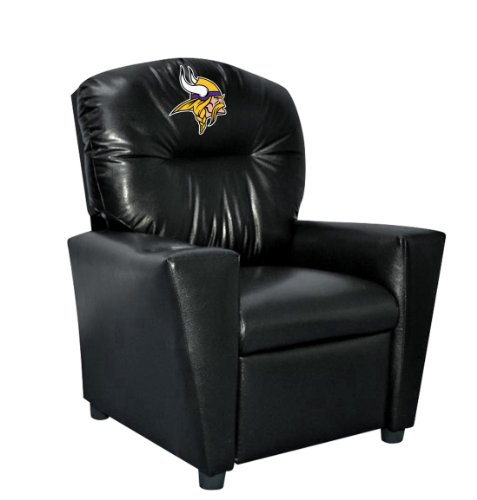 Imperial Officially Licensed NFL Furniture: Youth Faux Leather Recliner, Minnesota Vikings ()