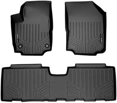 SMARTLINER Custom Fit Floor Mats 2 Row Liner Set Black for 2018-2021 Chevrolet Equinox