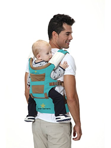 Brighter Elements Ergonomic Baby Carrier With Hip Seat 5 Positions To Carry Your Newborn Infant