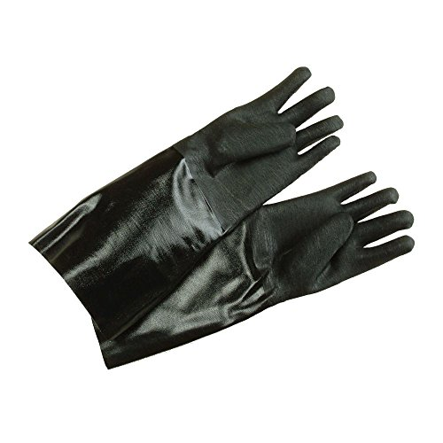 Ritz gln27bk black 17 elbow length neoprene cleaning for Fish cleaning gloves