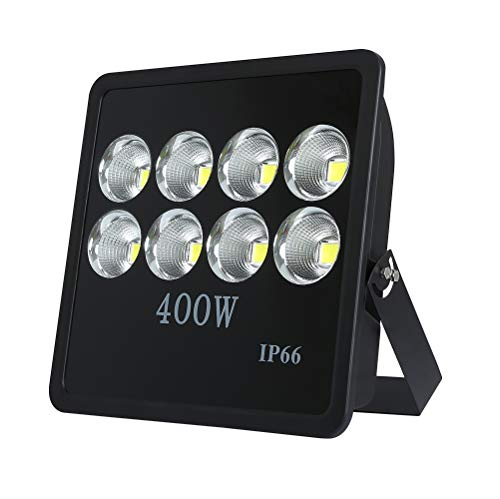 WEDO 400W LED Flood Light, Ultra Bright 40000Lm, 60 Degrees Angle Reflector, Outdoor Waterproof IP66 Security Lighting for Landscape, Garage, Billboards, Daylight White 6500K (No ()