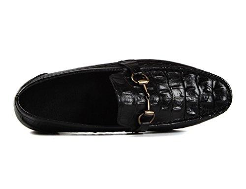 Negro Para Tamaño Oscuro Hombres Británico Hombre Marron Respirable Color Clásicos Diario Zapatos Eu39 Cuero uk6 Piel De Estilo Ocio qpxU6Zt
