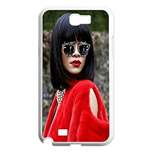 Samsung Galaxy Note 2 Case Rihanna at Paris Fashion Week for Guys Design, Case for Samsung Galaxy Note 2 Phone Tyquin, [White]