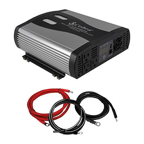 Cobra 2500-5000W 12V DC to 120V AC Car Power Inverter, 3 Out