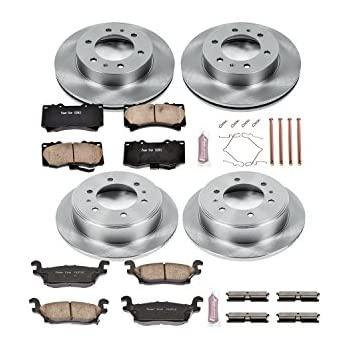 Fit 2006-2010 Hummer H3 Ceramic Brake Pads H3T Rear Gold Drilled Brake Rotors