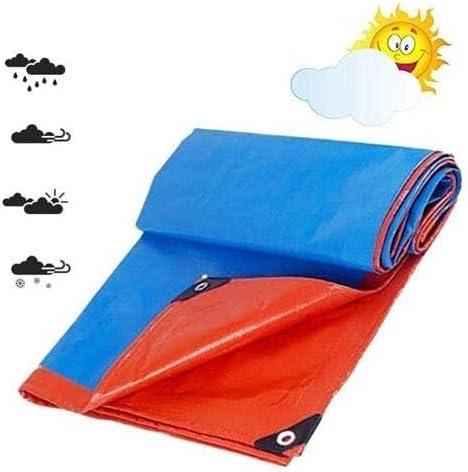 頑丈なターポリンターポリン強化パーフォレーション、厚いPEターポリン、防水ブルーターポリンボード、屋外キャンプ用の高品質ターポリン (Color : Blue, Size : 5.8x9.8m)