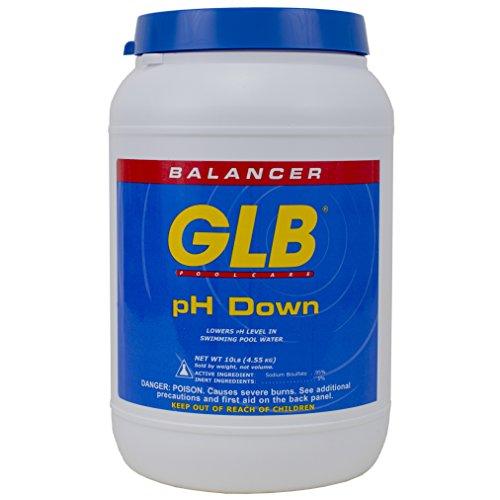 GLB Pool & Spa Products GLB 71242A pH Down Sanitizer, 10-Pound