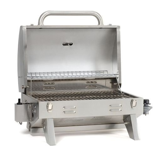 Portable Stainless Steel Gas Grill Tailgate Camping Grill...