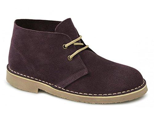 Para Ankle Atar Unisex Roamer Ante Granate Fashion Boots Piel Desert tRqwH