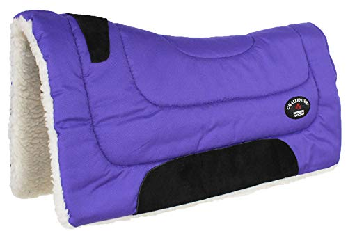 CHALLENGER Horse Saddle PAD Western Riding Trail Cordura Top Fur Bottom Full Purple 39143PR
