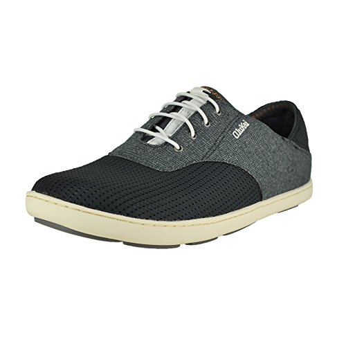 - OLUKAI Nohea Moku Dark Shadow/Dark Shadow Mens Oxfords Size 14M