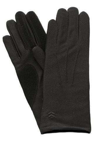 Isotoner Womens Lined Gloves One Size Black