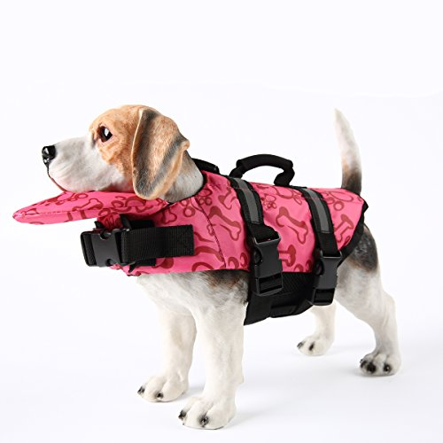 Image of PETCEE Dog Life Jacket Extra Large Fit Adjustable Swimming Jackets for Pets (Pink, XL)