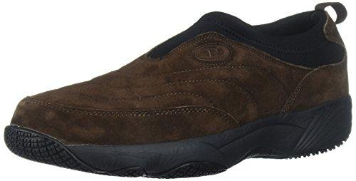 - Propet Men's Wash N Wear Slip On Suede Walking Shoe, sr Brownie/Black, 12 3E US