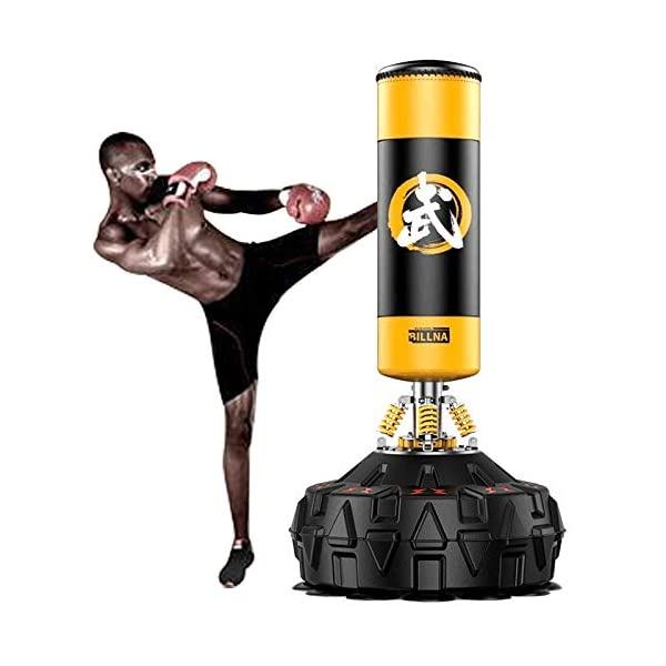 RJJBYY-Punch-Bag-for-Boxing-Training-Heavy-Duty-Punching-Bag-with-Strong-Suction-Base-Fitness-Kick-Punching-Training-Dummy-for-Kick-Boxing-Martial-Ats-Excellent-Dummy