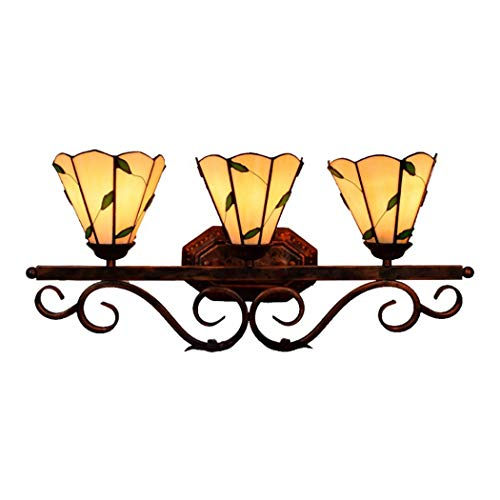 Bathroom Vanity Light, Tiffany Style Over Mirror Make Up Light Fixture, Vintage - Mirrors Glass Bathroom Stained