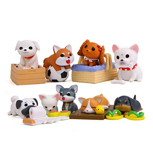 - Beauy Girl 8 Pcs Deluxe Dog Figurines Playset, Cute Dog Figures, Mini Dog Figure Collection Playset, Cupcake Topper