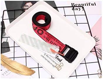 YANGXIAOYU Top Off Cinture Gialle Bianche Cinture Ricamate Lettera Lunga Cintura Per Donna Cinture Di Marca Firmate Di Lusso