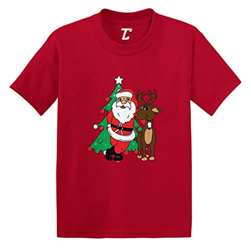 Santa & Reindeer - Elf Christmas Santa Infant/Toddler Cotton Jersey T-Shirt (Red, 24 Months)