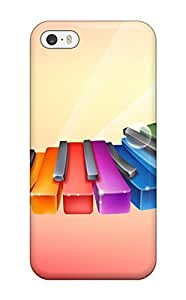 New Style New Design Shatterproof Case For Iphone 5/5s (rhythmic Colorful Piano)