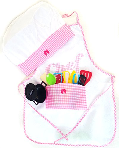 Kids Cooking Future Chef Set, Hat, Apron, and Utensils