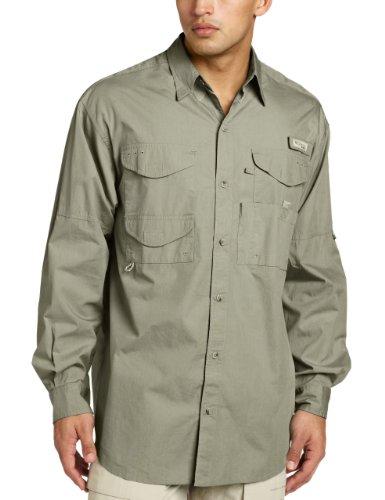 Fishing Sleeve Shirt Cotton Long (Columbia Men's Bonehead Long Sleeve Shirt Big, Sage, 2X)