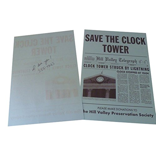 Jennifer Back To The Future (Back to the Future Hill Valley Save the Clock Tower flyer as given to Marty McFly and)