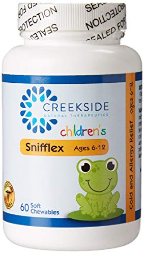 Snifflex 6-12- All Natural Cold and Allergy Relief for Children Ages 6-12; Quercetin, Bromelain, NAC, Vitamin C and Elderberry