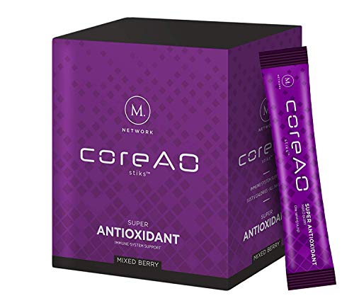 CoreAO Stik: Safe Anti-Inflammatory - Joint Relief - Antioxidant - with Mangosteen - 30 Drink Mix Packets (Stiks)
