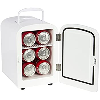 Best Choice Products SKY1590 Portable Mini Fridge Cooler and Warmer (Auto Car Boat Home Office AC & DC White)