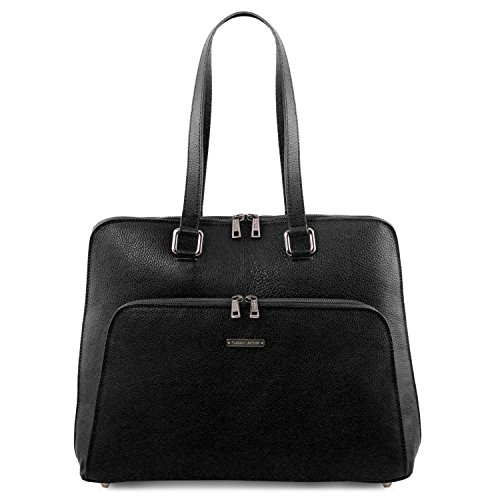 Tuscany Leather Lucca TL SMART business bag in soft leather for women Black by Tuscany Leather