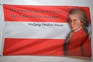 Wolfgang Amadeus Mozart, austrian composer garaje sótano College dormitorio bandera 3x 5