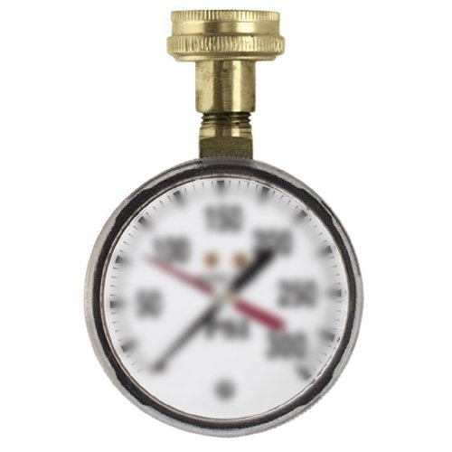 Uniweld TGW160, 2-1/2 Water Test Gauge with 3/4 Female Hose Connection, 160 PSI, Pack of 20 pcs